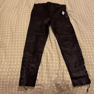 Hudson black leather jeans